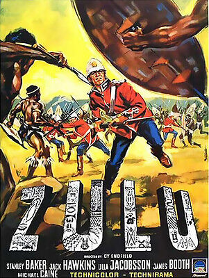 "Zulu  Vintage Movie Poster Metal 8""x6"" Plaque"