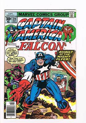 Captain America # 214 Power ! Night Flyer ! grade 8.0 movie hot book !!