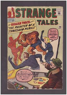 Strange Tales # 108  Human Torch  The Thing  The FF !  grade 3.5 scarce book !