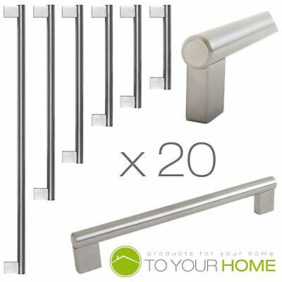 20 Boss Bar Stainless Steel Kitchen Cupboard Cabinet Drawer Door Handles 6 Sizes