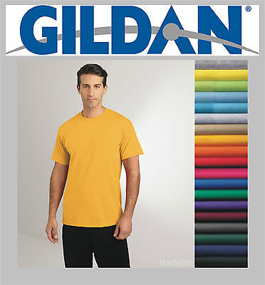 100 Gildan T-SHIRTS BLANK LOTS BULK  Colors or 12 White Plain S-XL Wholesale 50