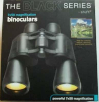 THE BLACK SERIES 7X50 Magnification Binoculars BY SHIFT 3~NEW IN BOX
