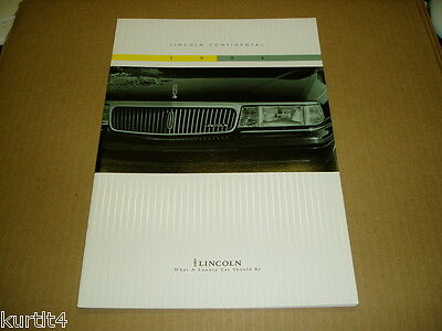 1994 Lincoln Continental sales brochure dealer car auto literature