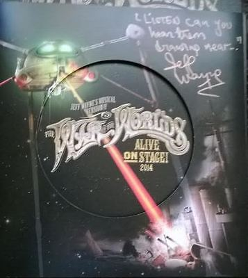 Jeff Wayne's War Of The Worlds 2014 Tour Programme - Signed & Messaged By Jeff