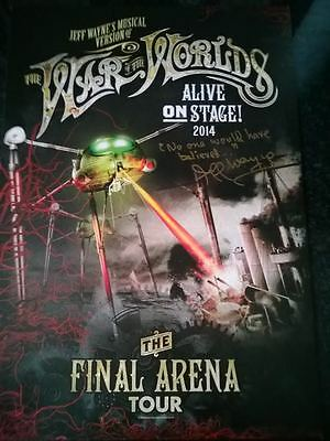 Jeff Wayne's War Of The Worlds 2014 Tour Lithograph - Signed & Messaged By Jeff