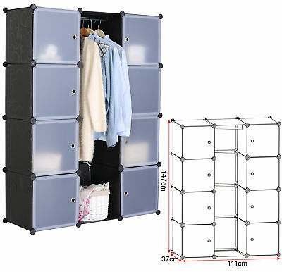 metall garderobenschrank mit vorhang kleiderschrank kleiderst nder regal schrank eur 78 99. Black Bedroom Furniture Sets. Home Design Ideas