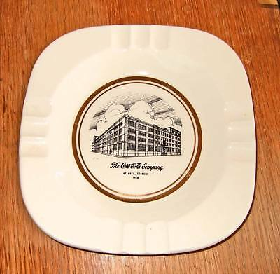 1958 Coca-Cola Company Atlanta Georgia Ceramic Ashtray~exc.cond.