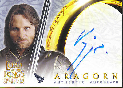 Lord Of The Rings Return Of The King Autograph Card Aragorn