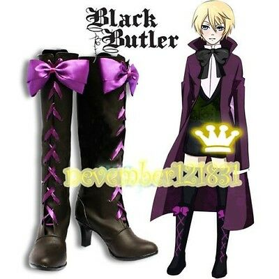 Black Butler Alois Trancy Anime Cosplay Costume Shoes Boots00