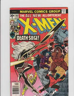 X-Men # 103  Death Siege !  The Fall of the Tower !  grade 7.0  scarce book !!