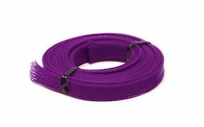 UV Purple PC  Cable Sleeving - 3 metres x 12mm