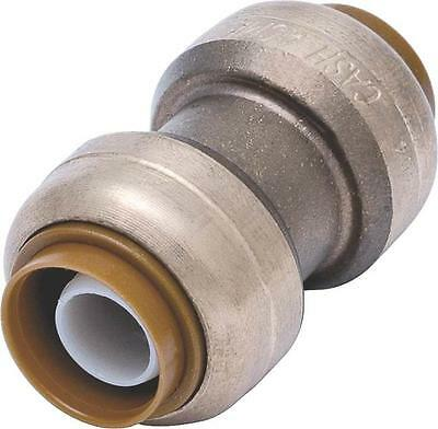 "New Sharkbite U016Lfa  Brass 3/4"" Push Fit Copper Pex Cpvc Coupling 7342918"