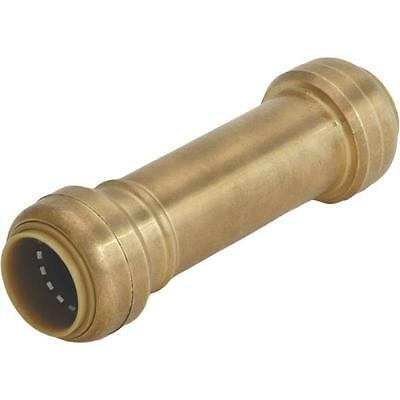 "Sharkbite U3008Lfa  Brass 1/2"" Push Fit Copper Pex Cpvc Repair Coupling 2039949"