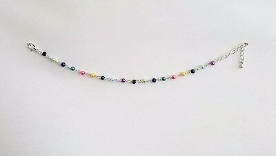 Ladies Silver Anklet Just A Rainbow