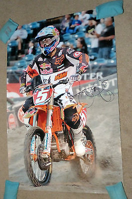 Ryan dungey signed 20x30 photo,chad reed