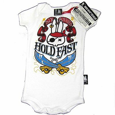SIX BUNNIES Baby Body Pirate Pirat Hase Rockabilly Gr. 50 56 62 68 74 80 NEU