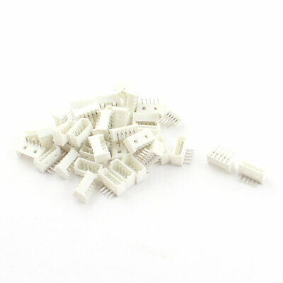 40Pcs 1.25mm Pitch 5 Pins PCB JST GH Connector White