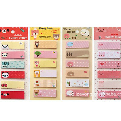 Cute Post It Bookmark Marker Memo Flags Index Notepad Tab Sticky Notes 120 Pages