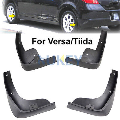 Fit For Nissan Versa / Tiida Hatch  2007~2011 Mud Flaps Splash Guards Mudguards