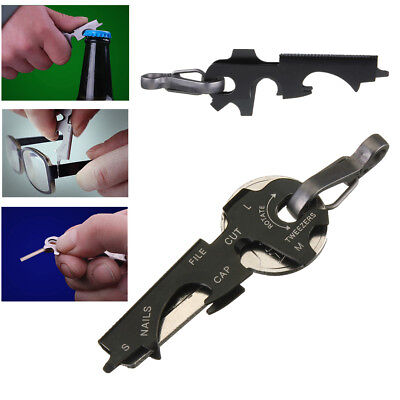 8-in-1 Keychain Gadget Utility Key Ring EDC Multi-function Pocket Tool Survival