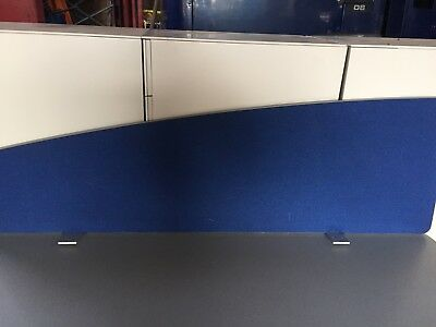 140cm  BLUE PRIVACY WAVE SCREEN DESK PARTITIONS DIVIDER OFFICE FURNITURE