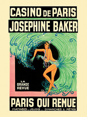 Josephine Baker Dancer Show Theater France French 16X20 Vintage Poster FREE S//H