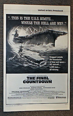 THE FINAL COUNTDOWN original 1980 movie pressbook KIRK DOUGLAS/U.S.S. NIMITZ