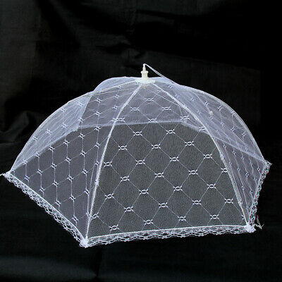 Bulk Lot x 12 Pop-Up Mesh Screen Food Cover Umbrella Tents 49CM