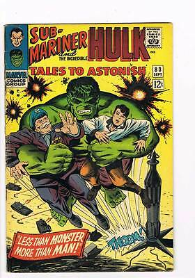Tales to Astonish # 83  Less than Monster !  grade 5.0 scarce hot book !!
