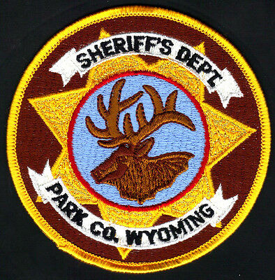 Park County Wyoming Sheriff Shoulder Patch  Gold Border  FREE USA SHIPPING