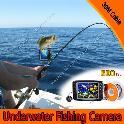 """3.5"""" LCD 30M Underwater Camera  ICE/SEA FISHING Fish Finder Easy install on Rod"""