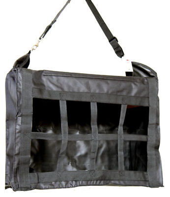 Large Horse Stable Hay Bag Tote Front Divider Top Load Heavy Duty Canvas Black