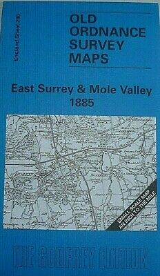 Old Ordnance Survey Maps East Surrey Dorking Reigate Leatherhead 1885 S286 New