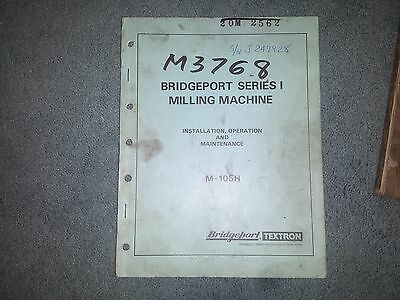 Bridgeport Series I Milling Machine  manual