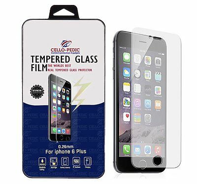 """Wholesale Lot of 10 Tempered Glass Film Screen Protector for 5.5"""" iPhone 6 Plus"""