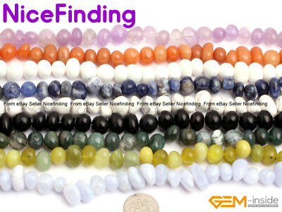 9x12mm Natural Freeform Potato Nugget Gemstone Beads Lots For Jewelry Making 15""