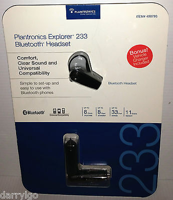 plantronics bluetooth headset explorer 233 wall charger 4 57 rh picclick com