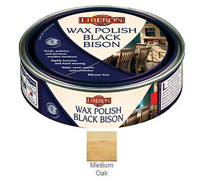 Liberon Bison Paste Wax Medium Oak 150ml Feeds and Polishes to a Lustrous Finish