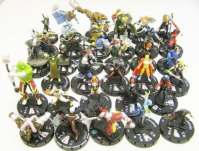 HeroClix Fear Itself - Komplettset #001-#033 Alle SuperRares+Rares+Commons+UC