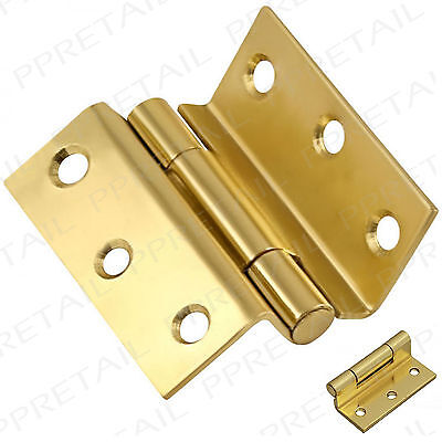 Heavy Duty Brass Hinges Pair For Wooden Frame Casement Windows Storm Proof 2.5""