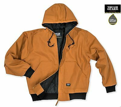 TGJ350 ToughGuard Men's Quilt Lined Insulated Water Repellent Duck Hooded Jacket