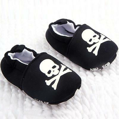 0-12M Toddler Baby Skull Pirate Print Casual Shoes Soft Sole Girl Boy Shoes A10