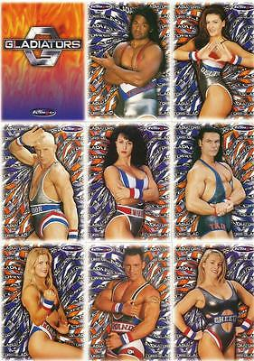 Gladiators Full 99 Card Base Set of Trading Cards - Australian TV Series - Tempo
