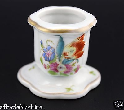 Herend China Small Porcelain Candle Holder #7930 - A