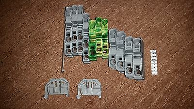 WAGO TERMINAL BLOCK KIT 4x 2010-1301+3x 2016-1207+ 3x 2016-1201 + MORE!