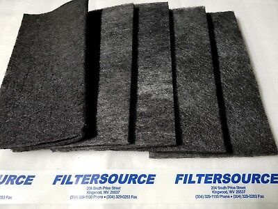 "Paint Booth Carbon Odor VOC Adsorption Filters 20x20x 1/2"" Double carbon 10 pack"