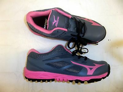 Mizuno Speed Trainer 5 Women's Softball Turf Shoes NEW Grey/Pink Various Sizes
