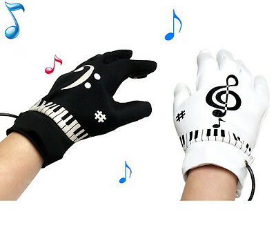 Air Piano Glove Finger Music Rhythm Playing Gadget Keyboard Equalizer Tempo Note