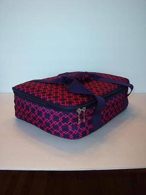Tupperware Casserole On The Go Insulated Carrier Bag with Handles Pink Black New