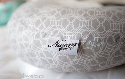 Nursing Pillow Hush Gray Fabric Breastfeeding Baby Infant Functional Comfortable